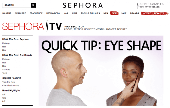 Sephora Home page